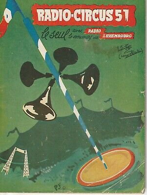 Revue / programme - Radio-Circus 51, années 50