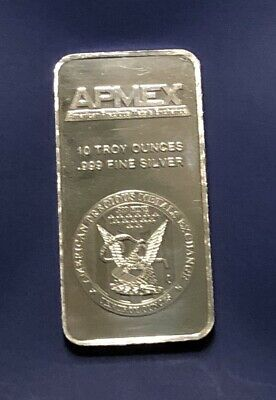 10 Oz. Apmex Silver Bar - .999 Fine