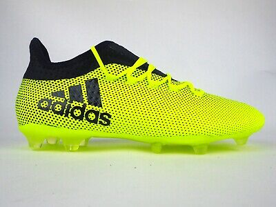 Mens Adidas X 17.2 FG S82325 Lime Black Lace Up Football Boots Free Shipping