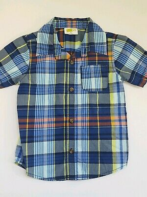 Crazy 8 Toddler Boy 3T Button Front Dress Shirt Plaid Top Spring, Easter