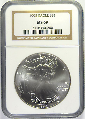 1995 Silver American Eagle NGC MS-69 (2/2)