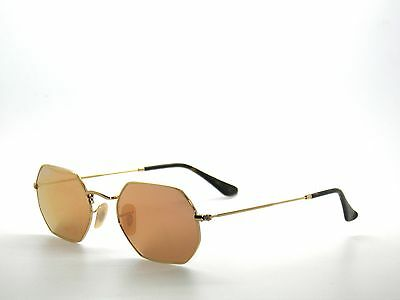 2ad6ba71be1 RAY-BAN SUNGLASSES OCTAGONAL 3556N 001 Z2 Gold Copper Mirror ...