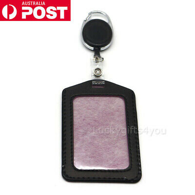 Retractable Lanyard ID Badge Opal Card Holder Business Pass Security Card Tag OZ