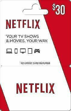 Netflix Gift Card -  $30 | E-Mail delivery