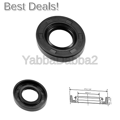sourcing map Oil Seal TC 25mm x 47mm x 10mm Rubber Nitrile Cover Double Lip