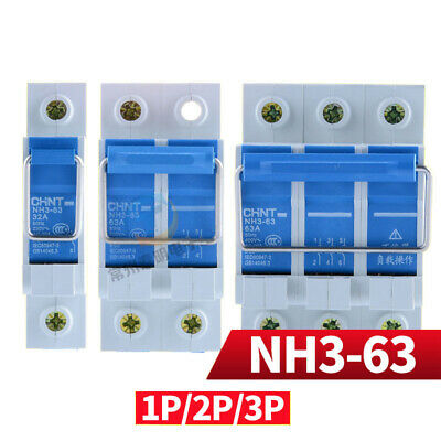 1/2/3P 63A 100A Pull Ring MCB Circuit Breaker Trip Switch For Solar Grid System