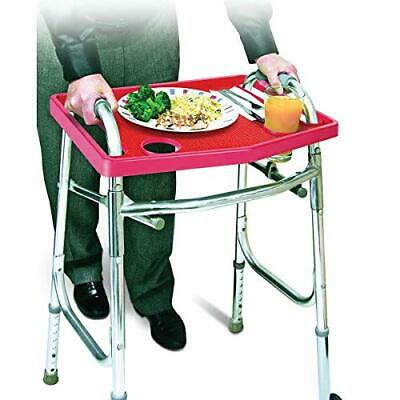 Universal Walker Tray Table with Non-Slip Grip Mat - North American - RED NEW