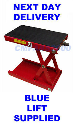 500kg Motorcycle Mini Lift, Scissor Lift Motorbike Lift Rubber Pad   ** BLUE **