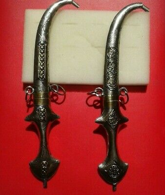 ANCIENT VIKING SILVER METAL AXE ARM KNIFE artifact very Stunning lot of 2 dagger