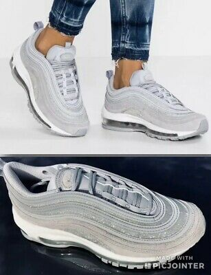 NIKE AIR MAX 97 'Glitter Pack' AT0071 001 Wolf Grey Size UK