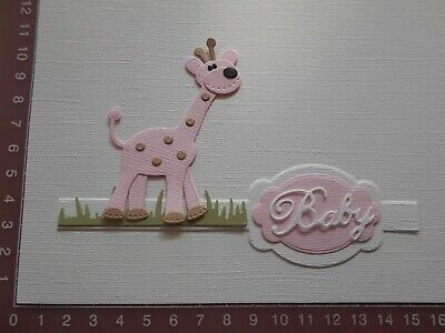 Die cuts - Giraffe(Assembled), Baby, Words, Card Toppers, Embellishments - Lot 1