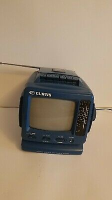 Curtis Portable Black And White TV With AM/FM Radio Cassette Recorder Tested