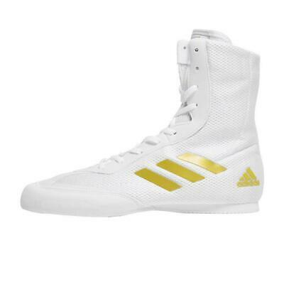 New Adidas Box Hog Plus Men's Pro Boxing Shoes Boots Fitness Shoes White