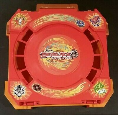 Beyblade Metal Fusion Orange Red Folding Travel Battle Arena Stadium Carry Case