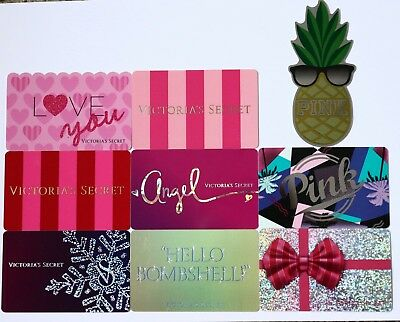 Lot of 9 Victoria`s Secret Collectible Gift Cards No Value PINK Angel Bombshell