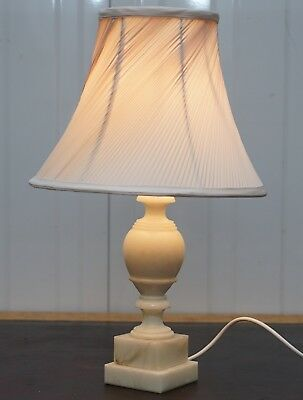 From Duke & Duchess Northumberland's Estate Sale Solid White Marble Table Lamp