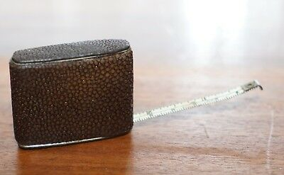 Very Rare Antique Hand Made In The Usa Shagreen Tape Measure Never Seen Before
