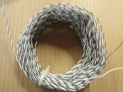 100 Ft  26 Awg Stranded 19/38 Silver Plated E Teflon Twisted Pair 600V Wire