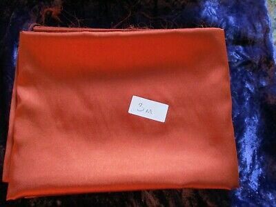 Silky Satin Fabric Plain Dress Craft Material Polyester 110cm Wide  3 m Copper