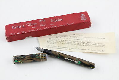 Vintage KING GEORGE VI Silver Jubilee Commemorative Fountain Pen ORIGINAL Box