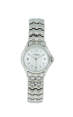 Caravelle by Bulova 43M105 Women's Round Analog Date Stretch Band Watch