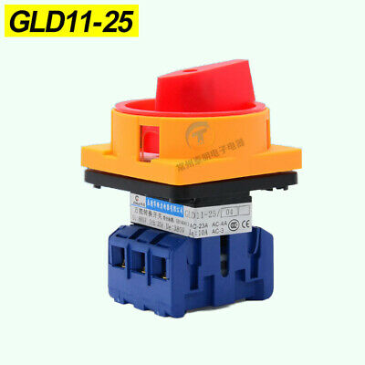 25A 3 Pole Disconnector Rotary Transfer Isolator Load Break Switch GLD11-25