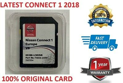 Genuine Nissan Connect 1 Latest Sat Nav  Lcn1 Sd Card V8 2018 Maps ..