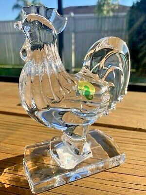 Waterford Crystal Standing Rooster Sculpture 40027970 NEW NO BOX