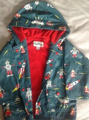 Hatley Robot raincoat good used condition size 3