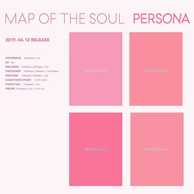 BTS MAP OF THE SOUL : PERSONA Version SELECT CD+Folded Poster+ETC