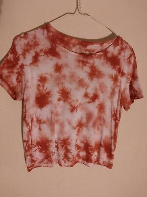 0a125bc8bc0 aeropostale womens size small prince   fox S tie dye soft cropped marine tee