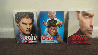 DEXTER (DVD) - TV Series, Seasons 3, 4, and 7..VG to New..LOOK!