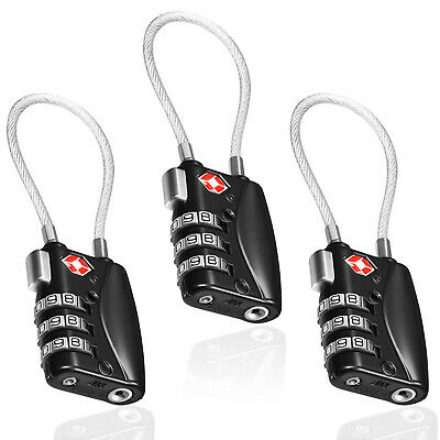TSA Compatible Travel Luggage Locks, Inspection Indicator, Easy Read Dials - Lot