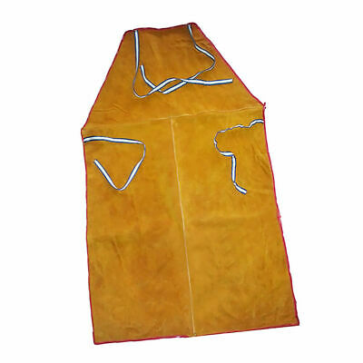 EG_ Orange Welder Apron Blacksmiths Welding safeguarding Flame Resistant Bib Wor