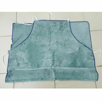 EG_ Blue Welder Apron Blacksmiths Welding shielding Flame Resistant Bib for Cutt