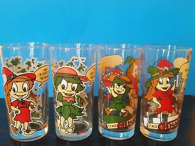Nutella Collectable Glasses x 4