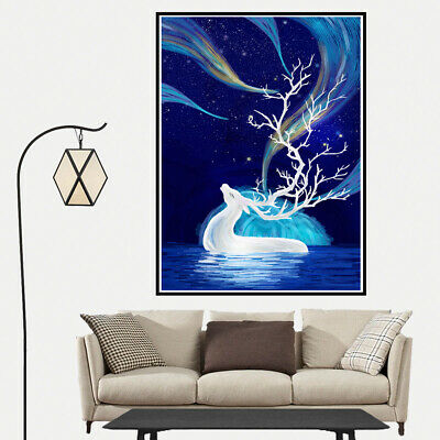 Modern dream Elk Canvas Art Painting Poster Cartoon Home Wall Bedroom Room Gift
