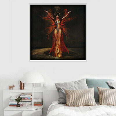 Modern Witch Canvas Art Painting Poster Cartoon Home Wall Bedroom Room Decor
