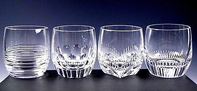 Waterford Crystal MIXOLOGY MIXED DOUBLE OLD FASHIONED GLASSES TUMBLERS Set 4 Box