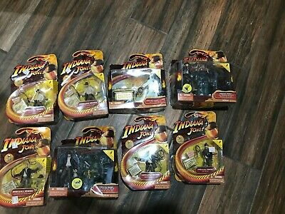 8 INDIANA JONES Action Figures Lot Raiders Lost Ark Toy Lot , New In Boxes
