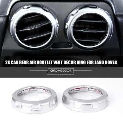 2x ABS Car Rear Air Outlet Vent Decor Ring Decals For Land Rover Discovery 4 LR3