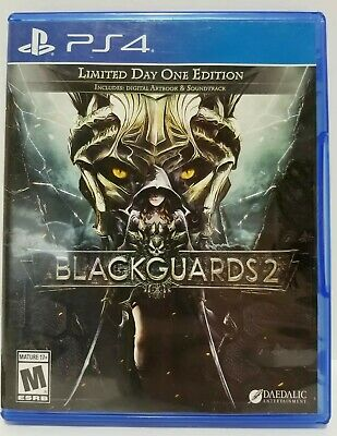 Blackguards 2: PS4 game - Limited Day One Edition - NO SCRATCHES + Warranty