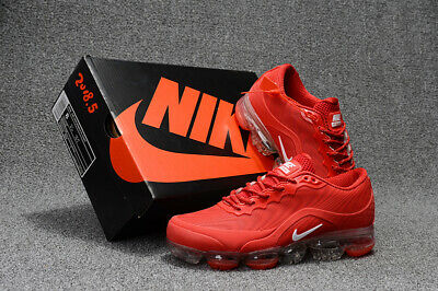 NEW NIKE AIR VaporMax Air Max 2018V Men's Running Trainers Shoes Red and white