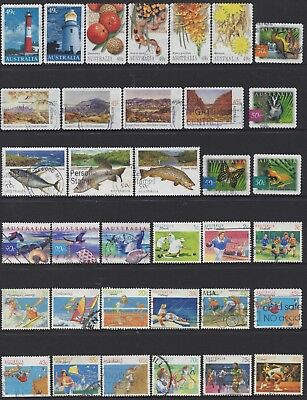 AUSTRALIA No.33 DECIMAL COLLECTION OF (35) STAMPS VFU