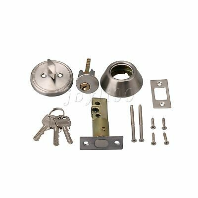 Single Cylinder Dead Bolt Lock Chrome Plated for 35-46mm Wood Metal Doors