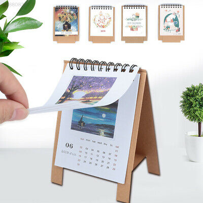 A924 2019 Calendar Planner Monthly Storage Box Memo Pad Scheduler Animal