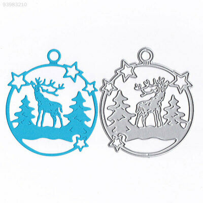 60AC Durable Embossing Card Cutting Stencil DIY Carbon Steel Christmas Deer Toy