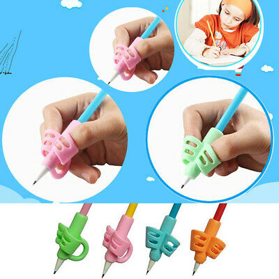 10PCS Two-finger Grip Silicone Kids Pencil Holder Learn Writing Tool Writing Pen