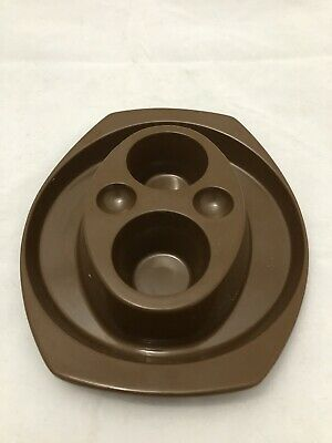 Vintage Besemer Chocolate brown dual egg cups. Great condition.