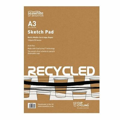 Seawhite of Brighton Eco Recycled CupCycling Cartridge Paper Sketch Pad A3